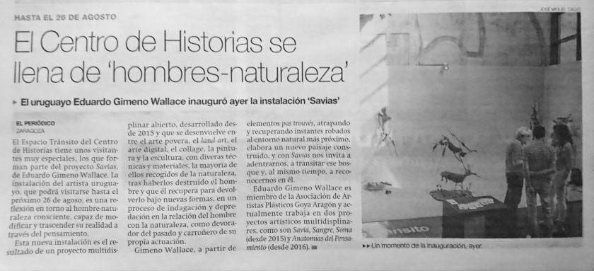 noticia Savias en el Periódico de Aragón